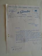 Angouleme  Charente Mr G Gindre Maitre Tailleur  1952 - Textile & Vestimentaire