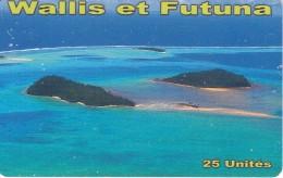 TARJETA DE WALLIS ET FUTUNA DE 25 UNITES DEL AÑO 2014 - Wallis And Futuna