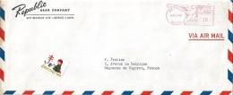 Enveloppe - Départ  De   DETROIT  (  U.S.A )  Cachet  Postal  à  Destination  De  Bagnères De Bigorre  ( 65 )   ^^ - Amérique Centrale