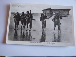 Berck Plage - Pécheurs Et Pécheuses De Crevettes - Berck