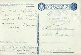 FRANCHIGIA-POSTA MILITARE-PM 3300-AEROPORTO 310-PER VITTORITO L'AQUILA-249 - Guerre 1939-45