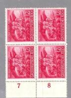 DEUTSCHLAND GERMANY GERMANIA REICH 1945 Volkssturmarke VIERBLOCK Mi.908 MILIZIA POPOLARE   MNH** - Unused Stamps