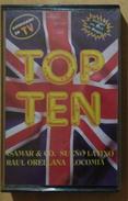 TOP TEN. CASSETE SIN USO. - Casetes