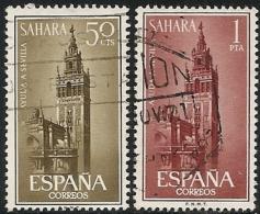 SAHARA-1963-ED. 215 A 216 COMPLETA- AYUDA A SEVILLA-USADO - Sahara Español