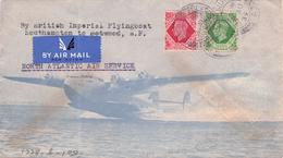 GREAT BRITAIN  - BRITISH IMPERIAL FLYINGBOAT SOUTHAMPTON TO NEW YORK 1939 - Material Postal