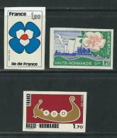 FRANCE N° 1991 à 1993 Non Dentelés ** - Imperforates