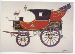 Malle Poste Briska Dernier Modèle Qui A Roulé Sur Les Routes Françaises (1873) Bruckman Illustrateur Musée Histoire PTT - Poste & Facteurs