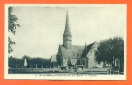 """CPA 27 Saint Victor De Chrétienville """" L´eglise """" LJCP1 - Frankreich"""