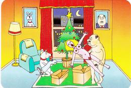 Mini Calendrier 6,8 X 9,8 Poupée Gonflable Noël Sapin Cadeaux Grivois Humour Année 2004 - Calendars