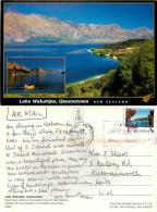 Lake Wakatipu, Queenstown, New Zealand Postcard Posted 2010 Stamp - New Zealand