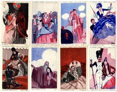 LE THEATRE LYRIQUE  SERIE DE 12 CARTES  -  BELLES ILLUSTRATIONS DE  GARRY  -  EDITE PAR LA MAISON DE RICQLES - Teatro