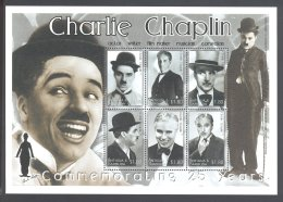 Antigua - 2002 Charlie Chaplin Kleinbogen MNH__(THB-5362) - Antigua Et Barbuda (1981-...)