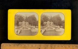 Photographie Stéréoscopique Photo Stéréo 1860´s  Parc SAINT ST CLOUD Grande Pièce D'eau - Stereoscopio