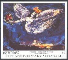 Dominica - 1987 Marc Chagall Block (2) MNH__(TH-17585) - Dominica (1978-...)