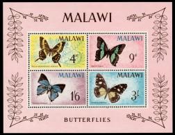 ~~~  Malawi 1966 - Fauna Butterflies Papillions - Mi. Block 5  ** MNH ~~~ - Malawi (1964-...)