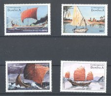 Dominica - 1998 History Of Sailing MNH__(TH-18144) - Dominique (1978-...)