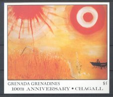 Grenada Grenadines - 1986 Marc Chagall Block (2) MNH__(TH-17691) - Grenada (1974-...)