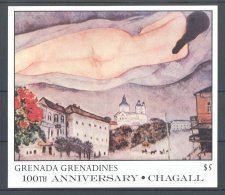 Grenada Grenadines - 1986 Marc Chagall Block (3) MNH__(TH-17690) - Grenada (1974-...)