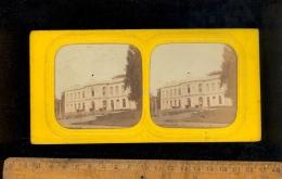 Photographie Stéréoscopique Photo Stéréo 1860´s ASNIERES (SUR OISE) Le Chateau (effet Feu D'artifice ) - Stereoscopio