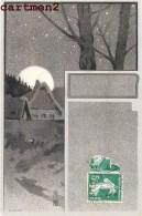 """ILLUSTRATEUR A IDENTIFIER : """" MONOGRAMME AZ """" STYLE ART NOUVEAU PAYSAGE TCHEQUE AUTRICHIEN VIENNE ? Collection Des Cent - Illustrateurs & Photographes"""