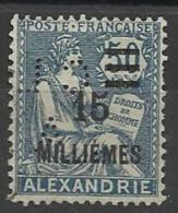 Colonie ALEXANDRIE N° 71  CL/A 2 Indice 4 Perforé Perforés Perfins Perfin