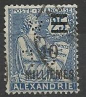 Colonie ALEXANDRIE N° 70  CL/A 2 Indice 4 Perforé Perforés Perfins Perfin