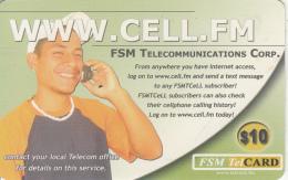 MICRONESIA - Www.cell.fm, FSM Tel Prepaid Card $10, Used