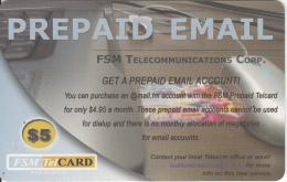 MICRONESIA - Prepaid Email, FSM Tel Prepaid Card $5, Used - Micronesia