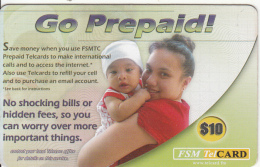 MICRONESIA - Go Prepaid, FSM Tel Prepaid Card $10, Used