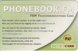 MICRONESIA - Phonebook.fm, FSM Tel Prepaid Card $10, Used - Micronesia
