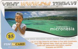 MICRONESIA - Welcome To Micronesia, FSM Tel Prepaid Card $5, Used - Micronesia