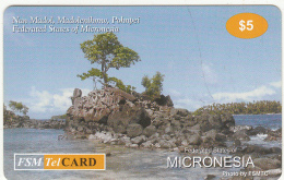 MICRONESIA - Nan Madol/Madolenihmw/Pohnpei, FSM Tel Prepaid Card $5, Used - Micronésie