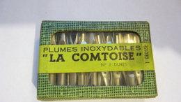 """BOITE DE 100 PLUMES  ???  """"LA CONTOISE"""" PLUMES INOXYDABLES   N°1 DURES - Vulpen"""