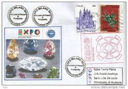 SIERRA LEONE. (Diamonds Crystal From Sierra Leone), Letter From The Sierra Leone Pavilion UNIVERSAL EXPO MILANO 2015 - Minéraux