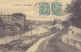 Namur - La Sambre (timbres 1921, Péniches, Animée) - Namur