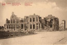 BELGIQUE - FLANDRE OCCIDENTALE - IEPER - YPRES - Après La Guerre - Place De La Gare - Achter Den Oorlog - Statieplaats. - Ieper