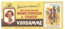 Buvard VANDAMME Miam Miam !... Les Savoureux Pains D´épices & Cakes Images Des Rois De France N°14 - Peperkoeken