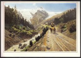 Austrian Alpine Mail On The Road Stilfser Joch At Trafoi 1892 / Oil Paint From C. Bossenroth / Stage Coach - Pittura & Quadri