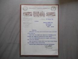 SAILLY-SAILLISEL SOMME ETABLISSEMENTS TRIPETTE & RENAUD FILS FABRIQUE DE GAZ A BLUTER FACTURE DU 28 FEVRIER 1931 - France
