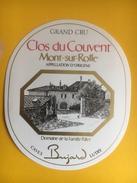 2289- Suisse Vaud  Mont Sur Rolle  Clos Du Couvent - Etiquettes