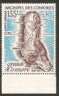 Comoro Islands 1973 Mi# 155 ** MNH - Map Of Grand Comoro Island - Geographie
