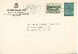 Iceland Cover Sent To Denmark Reykjavik 19-3-1960 - Cartas