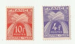 1943-1946  - Serie De 2 Timbres-taxes - Type Gerbes  - Neufs - Taxes