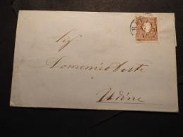 Österreich Lombardei/Venetien Mi. 10 II A. Brief Nach Udine  S.scan - Austria