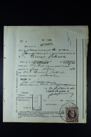 Belgium: OPB Nr 210 10 Francs On Moneyorder 1922 Longcancel WATERMAEL