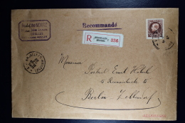 Belgium: Registered Cover  Brussel To Berlin  OPB  218  1926