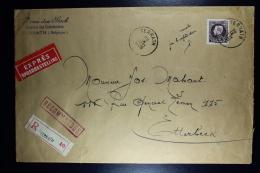 Belgium: Express And Registered Cover TERNATH To Otterbeek   OPB  218  1935 - België