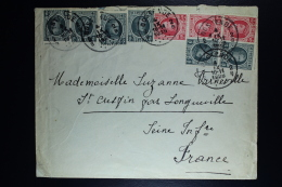 Belgium Cover  Oostende To Longenville F 1926, OPB 193 + 202 Also In Strips - België