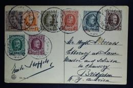 Belgium Card  Brussels To Bridgetown USA 1927, OPB 190 - 196 + 136