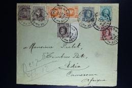 Belgium Registered Cover Antwerp To Cameroun  1927, OPB 136 + 165 + 190 Pair + 193 + 194 + 196 + 201